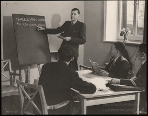 A class in the English Language at the British Council Allied Centre, Liverpool